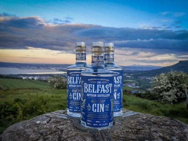 Artisan Gin bottle scenic view - about us